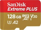 SanDisk Extreme PLUS 128GB microSDXC UHS-I Memory Card $20