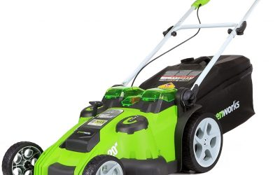 Greenworks 40V 20-Inch Cordless Twin Force Lawn Mower w/ 2 Batteries