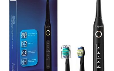 Fairywill Electric UltraSonic Toothbrush with 3 Brush Heads