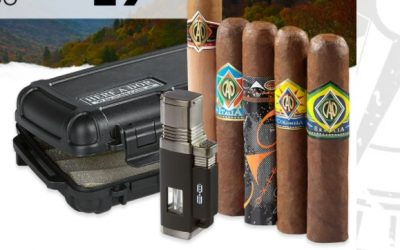 CAO Cigar Explorers Pack with Lighter and Travel Humidor